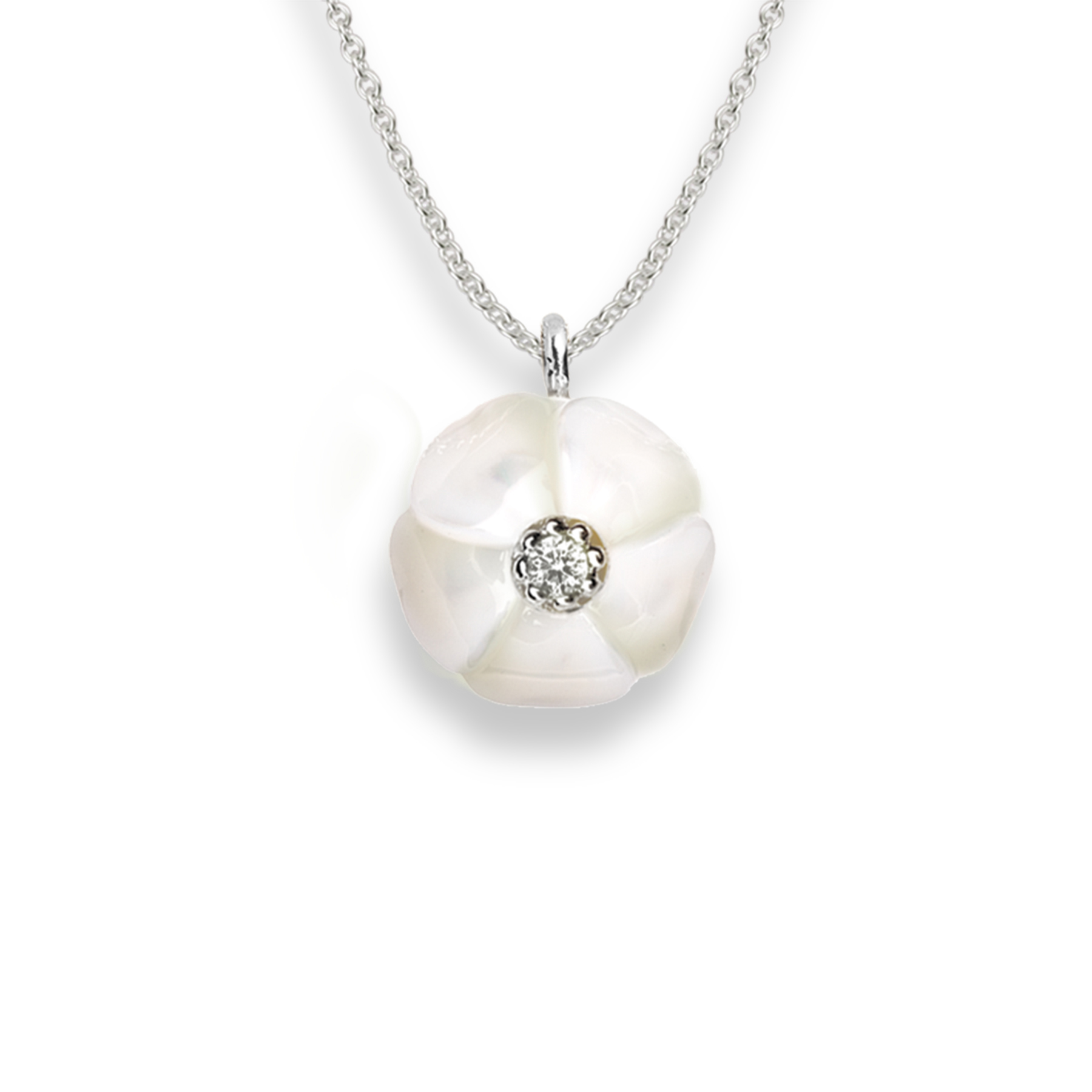 Galatea - Plumeria_Carved_pearl_and_diamond_drop.jpg - brand name designer jewelry in Jensen Beach, Florida