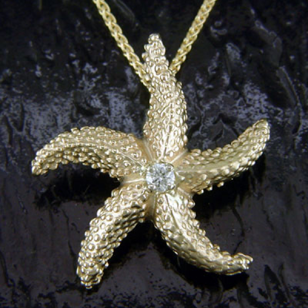 Diamond Starfish Pendant : LG by Steven Douglas