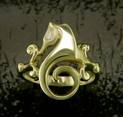 Classic Seahorse Ring by Steven Douglas